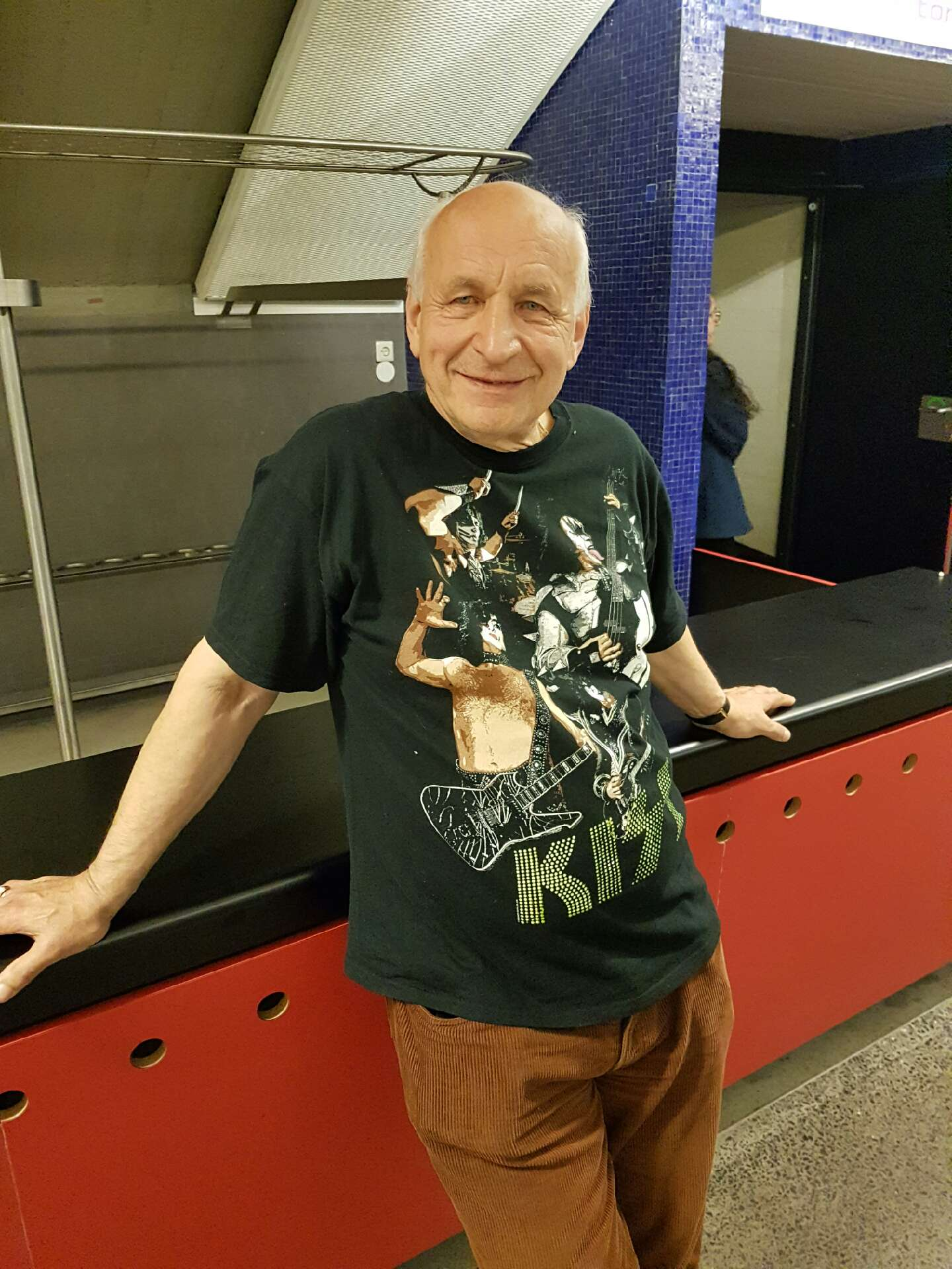 Wolf Mazakarini mit Vater auf Kiss Konzert